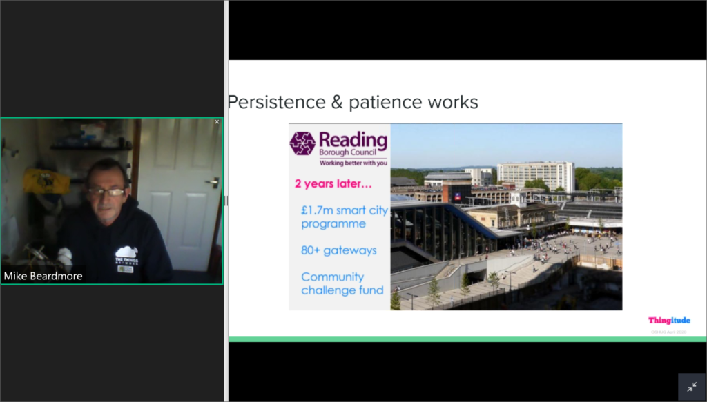 Mike Beardmore describes the success of Reading's smart city programme with the Things Network