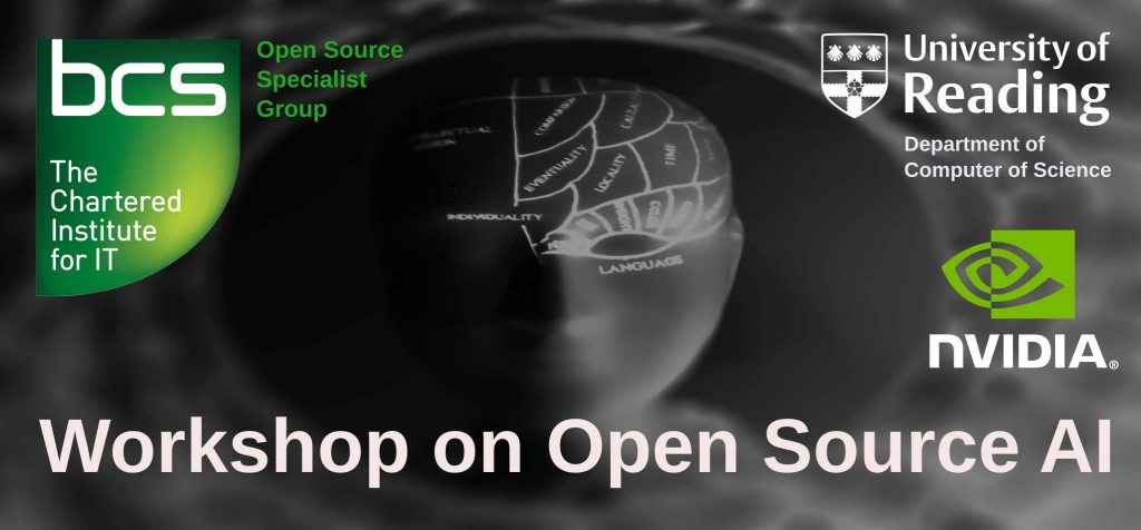 Open Source AI - April 2019 @ Room 185, Polly Vacher, Computer Science Department, University of Reading